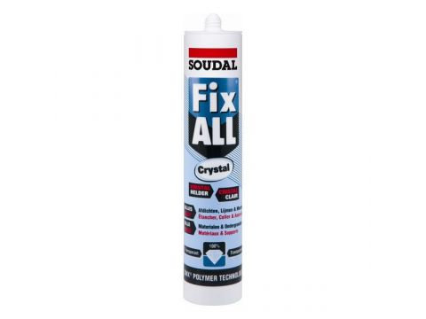 Soudal fix all crystal 290ml transparant