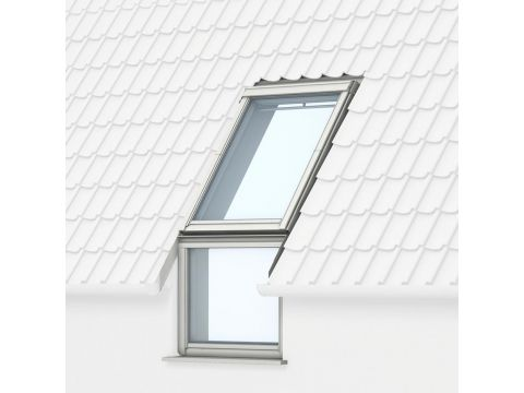 Velux vfe 2060 sk35 energy&silence hout wit