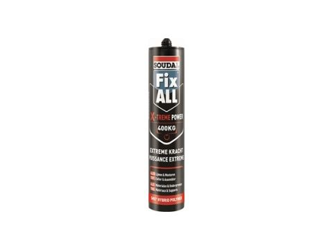 Soudal fix all x-treme power zwart